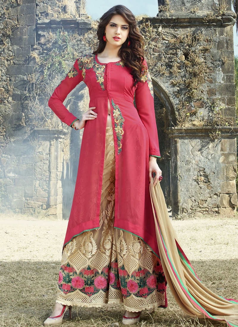 Preferable Stone Work Palazzo Style Designer Salwar Suit