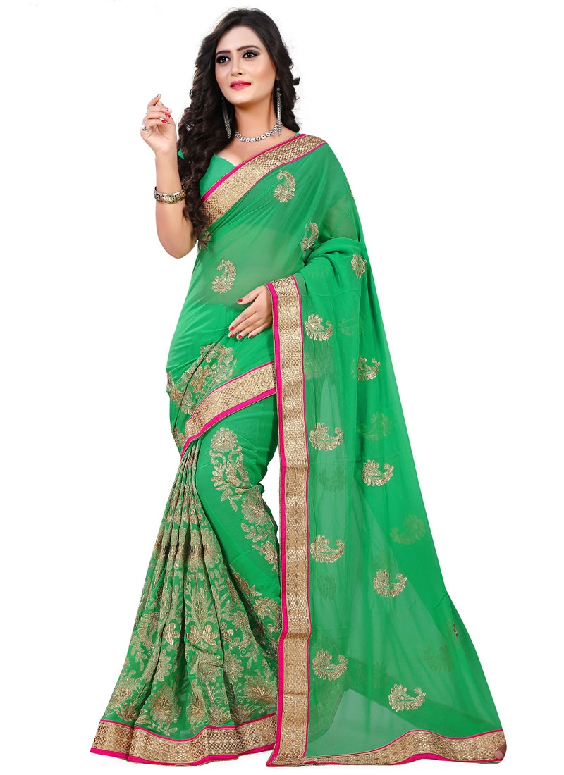 Preferable Stone Work Party Wear Saree