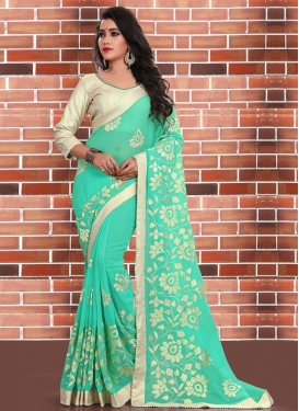 Prepossessing Beads Work  Classic Saree For Ceremonial