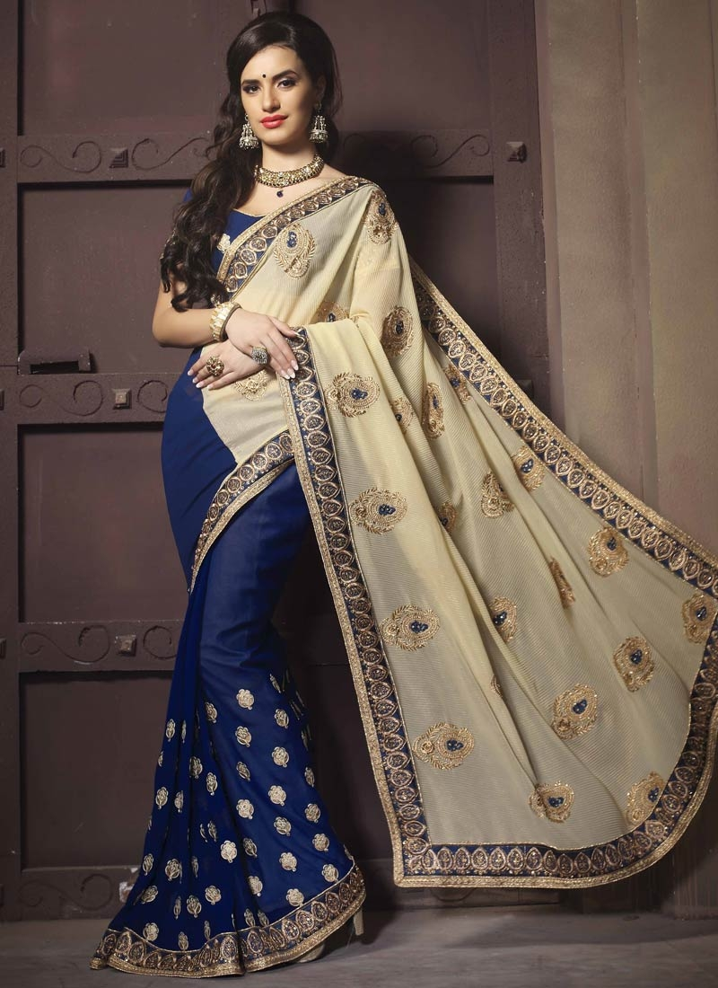 Prepossessing Booti Work Crush Designer Saree