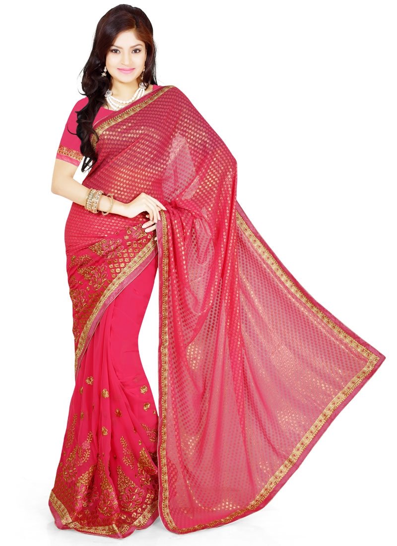 Prepossessing Booti Work Party Wear Saree