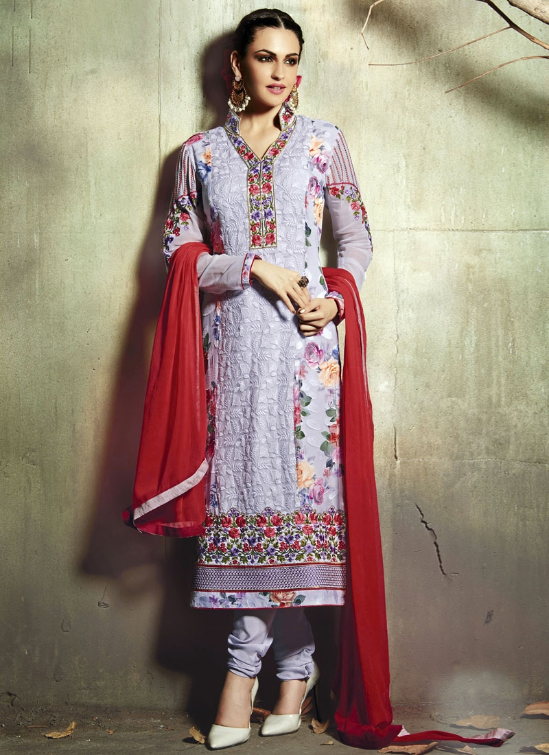 Prepossessing Floral Work Party Wear Salwar Kameez