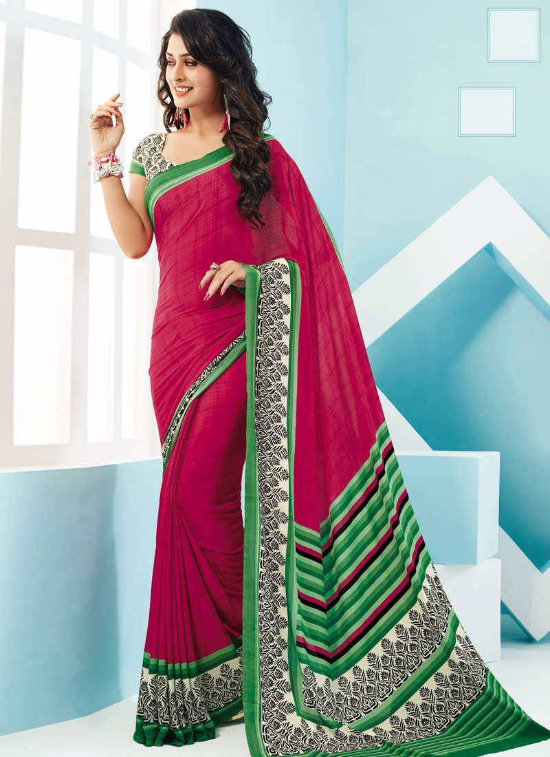 Prepossessing Printed Crepe Silk Casual Saree