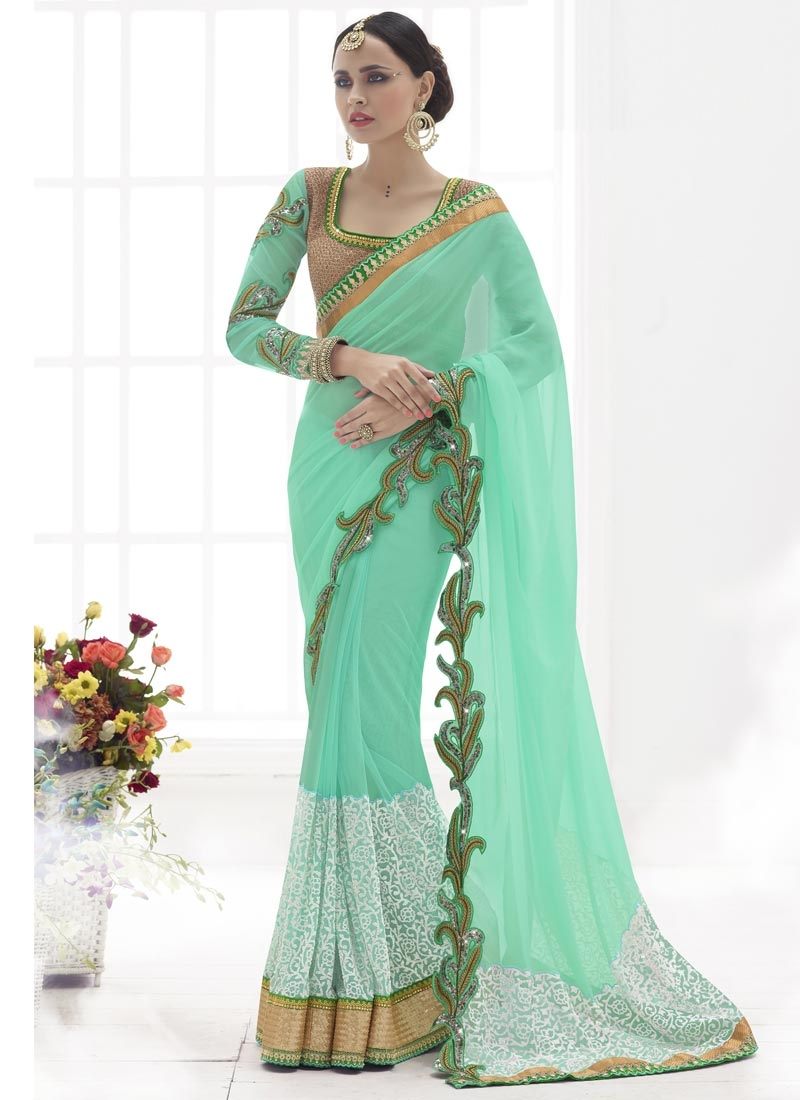Prepossessing Sequins Work Designer Saree