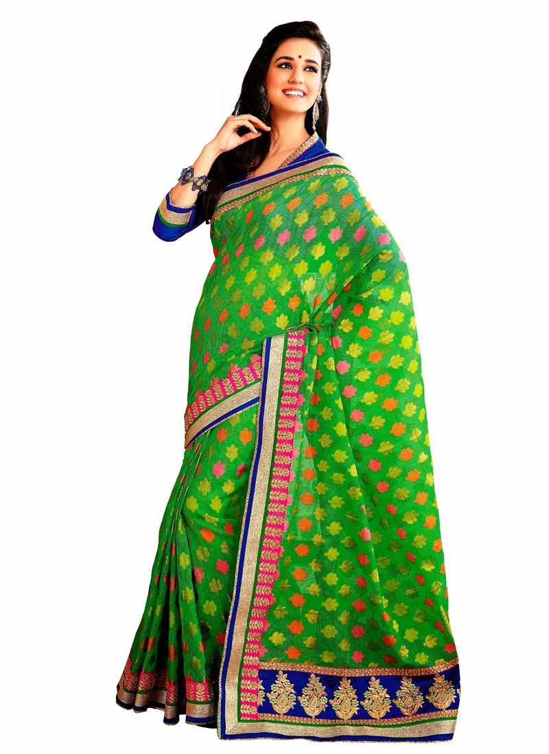 Pretty Banarasi Silk Party Wear Saree