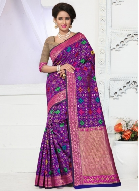 Pretty Banarasi Silk Traditional Saree For Festival