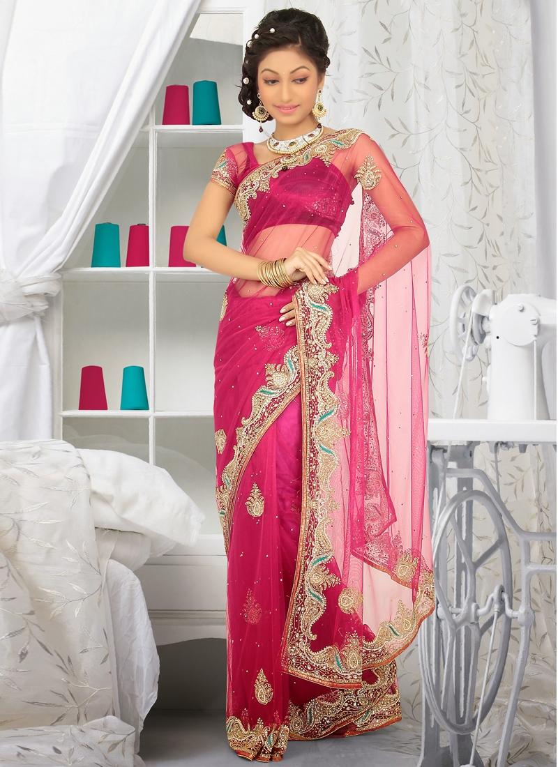 Pretty Cutdana Enhanced Wedding Saree