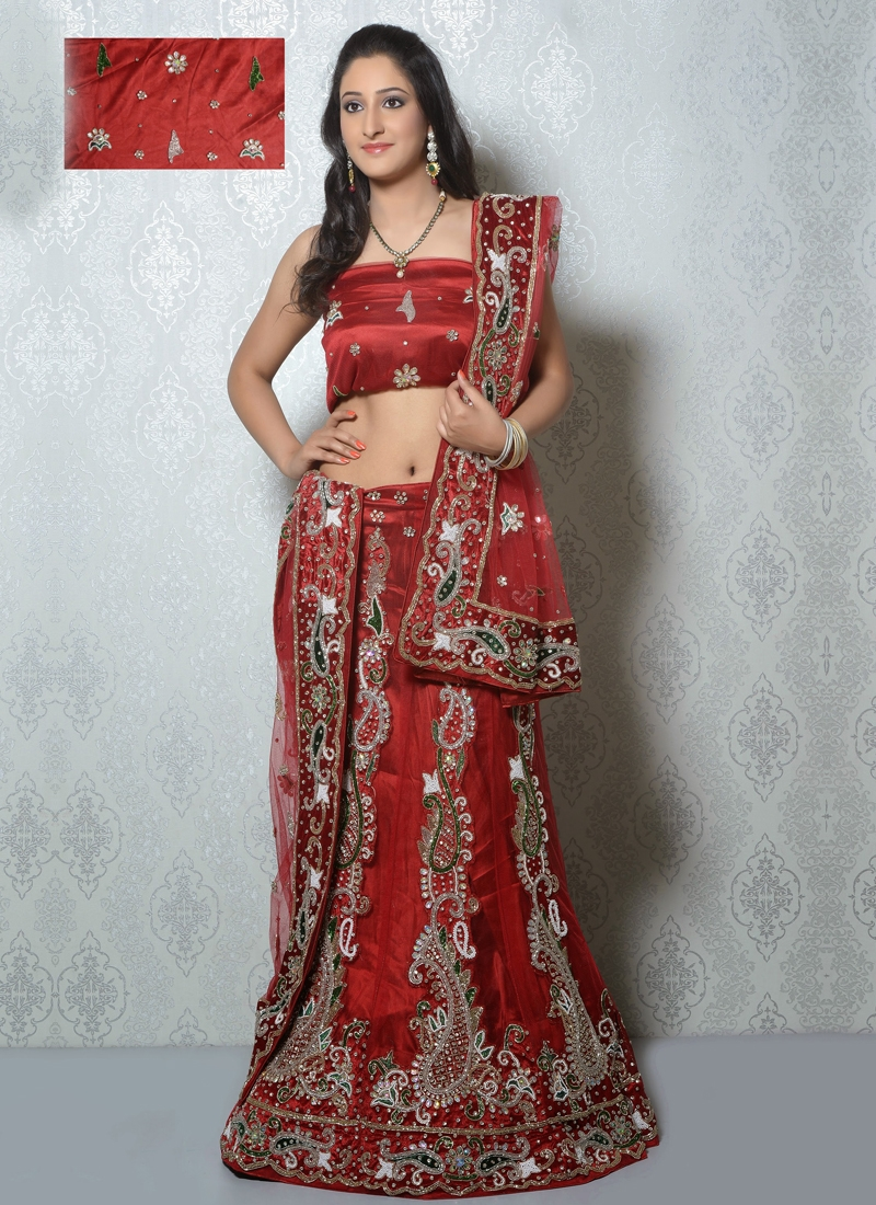 Pretty Cutdana Work Net Bridal Lehenga Choli