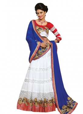 Pretty Patch Border Work Designer Lehenga Choli