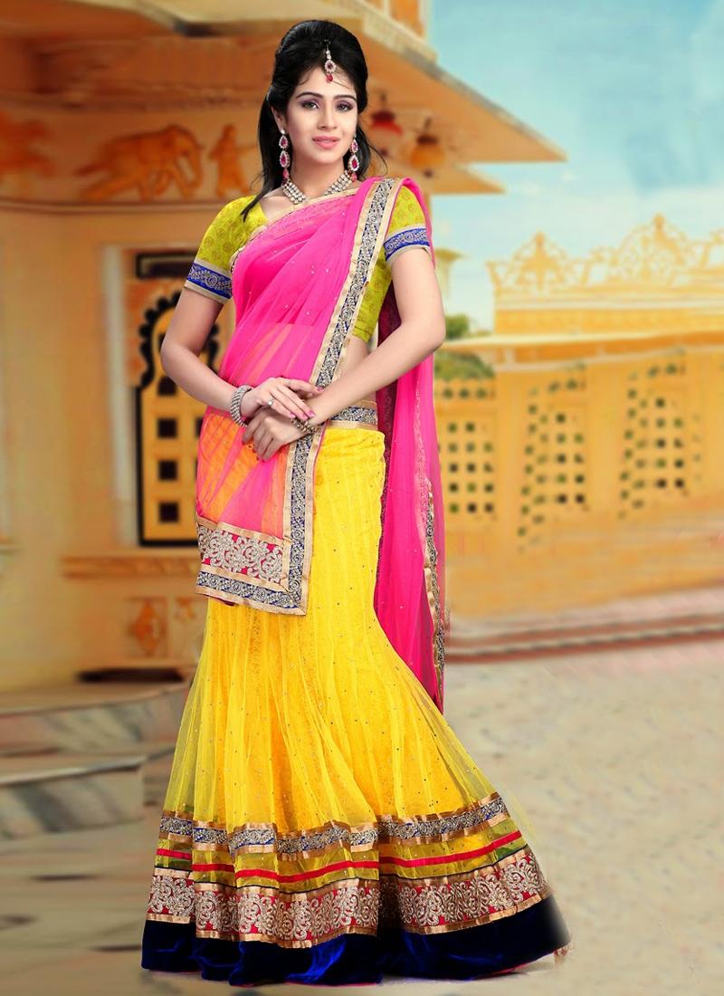 Pretty Yellow Color Wedding Lehenga Choli