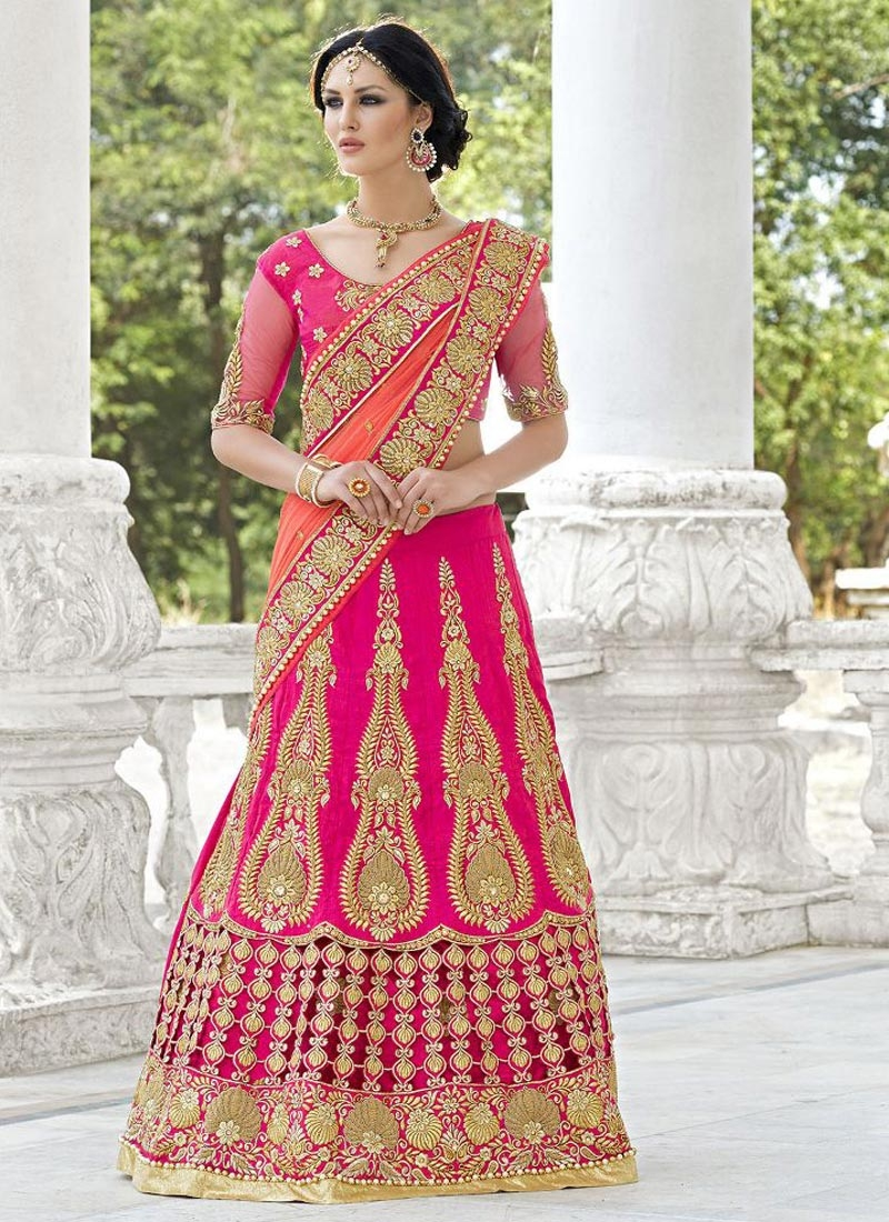 Prime Cut And Booti Work Wedding Lehenga Choli