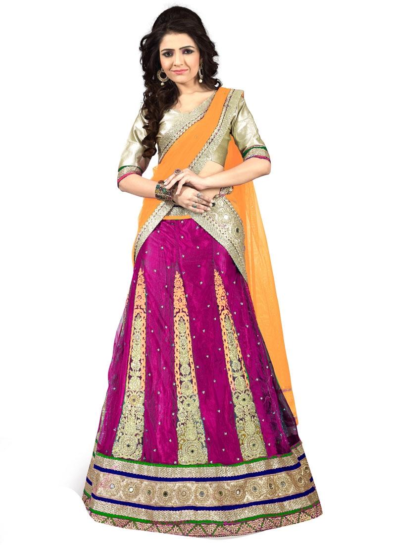 Prime Stone And Mirror Work Net Wedding Lehenga Choli