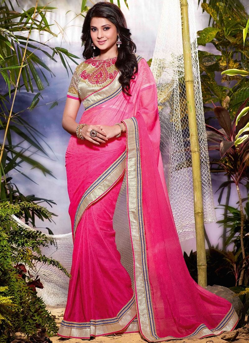 Princely Aari Work Jennifer Winget Party Wear Saree
