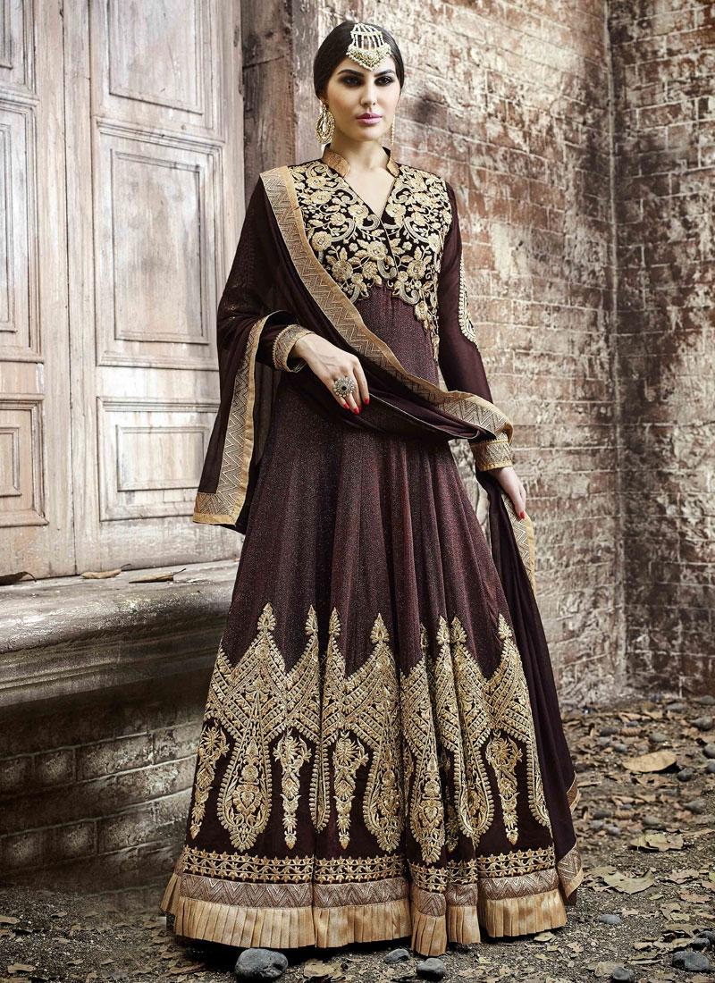 Princely Booti Work Long Length Designer Salwar Kameez