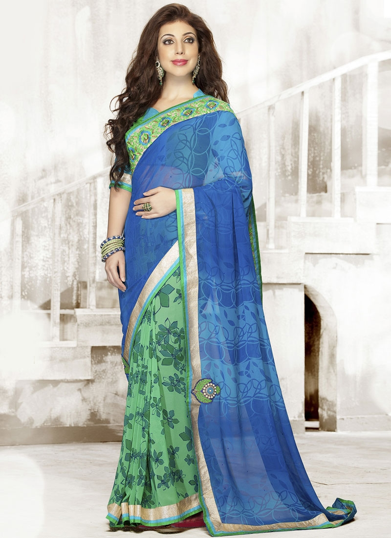 Princely Digital Printed Half N Half Casual Saree