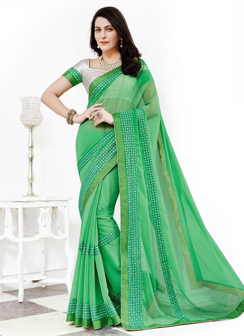 Princely Faux Chiffon Party Wear Saree