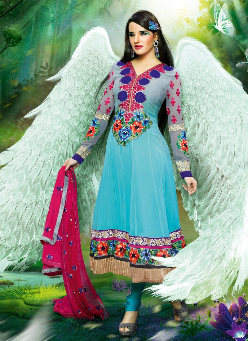 Princely Resham Work Georgette Party Wear Suit