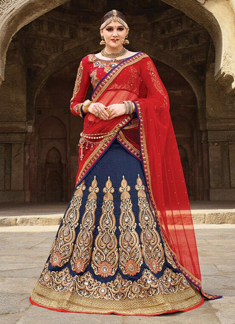 Princely Stone And Booti Work Wedding Lehenga Choli
