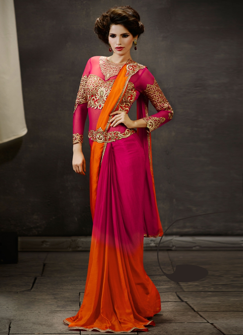 Princely Stone And Zari Work Designer Saree