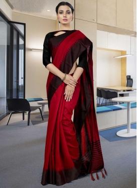 Print Work Art Silk Classic Saree