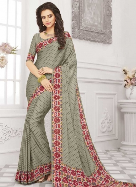 Print Work Art Silk Traditional Saree
