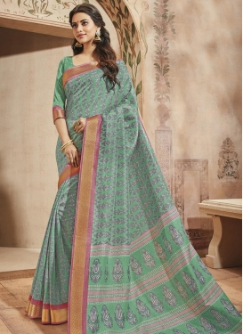 Print Work Art Silk Traditional Saree For Casual