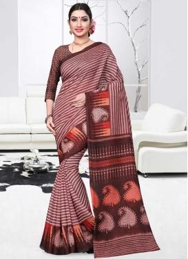 Print Work Art Silk Trendy Classic Saree