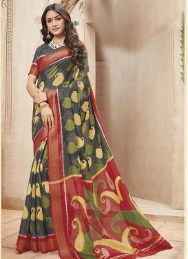 Print Work Art Silk Trendy Saree