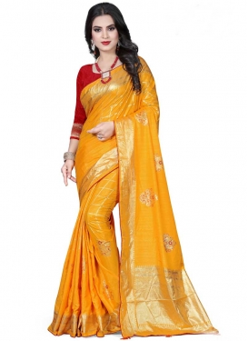 Print Work Art Silk Trendy Saree