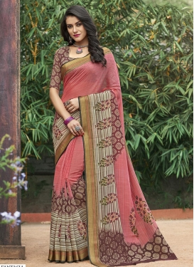 Print Work Art Silk Trendy Saree For Casual