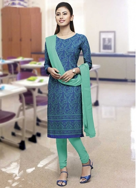 Print Work Churidar Salwar Suit