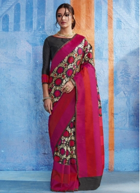 Print Work Classic Saree For Ceremonial