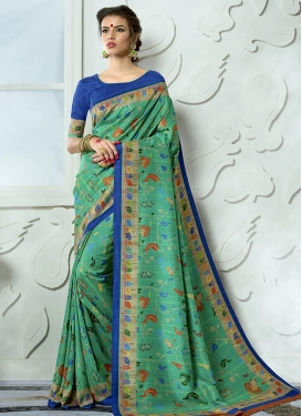 Print Work Contemporary Saree
