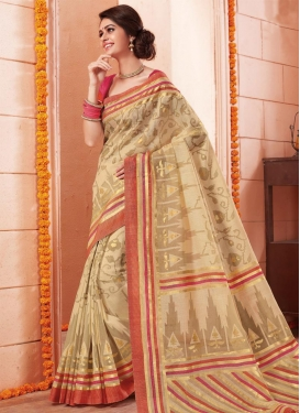 Print Work Contemporary Style Saree