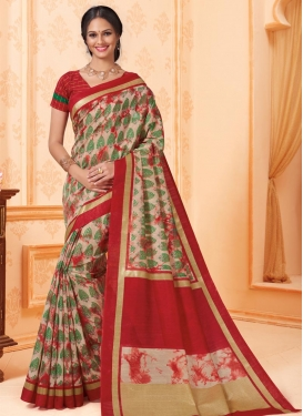 Print Work Contemporary Style Saree
