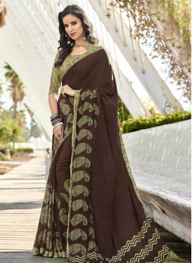 Print Work Contemporary Style Saree For Casual