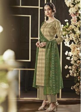 Print Work Cotton Pant Style Pakistani Salwar Kameez