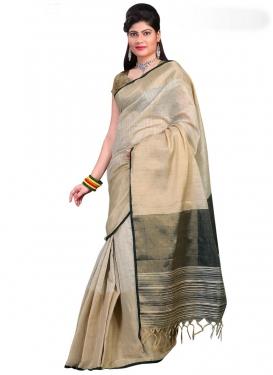 Print Work Cotton Silk Contemporary Saree