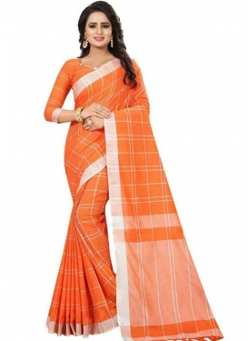 Print Work Cotton Silk Traditional Designer Saree