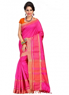 Print Work Cotton Silk Trendy Saree