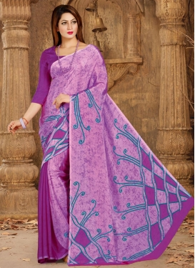 Print Work  Crepe Silk Contemporary Saree