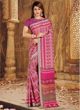 Print Work Crepe Silk Traditional Saree