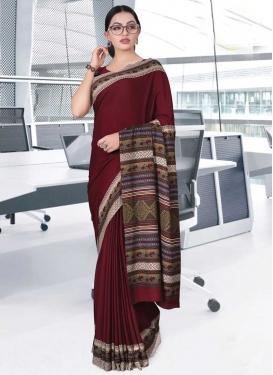 Print Work Designer Contemporary Saree