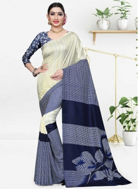 Print Work Designer Contemporary Saree