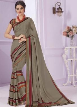 Print Work Designer Contemporary Style Saree For Ceremonial
