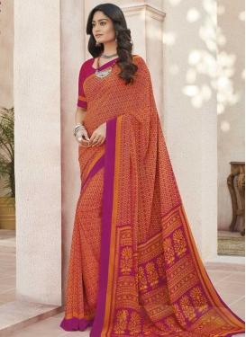 Print Work Designer Traditional Saree
