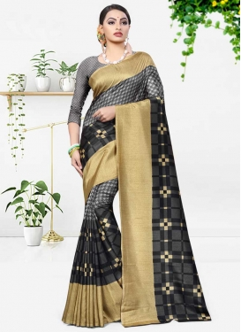 Print Work Designer Traditional Saree