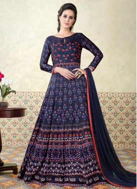 Print Work  Floor Length Anarkali Salwar Suit