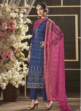 Print Work Pant Style Pakistani Salwar Kameez