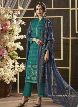 Print Work Pant Style Pakistani Suit